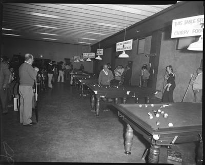 Film negative: Christchurch Working Men's Club, South Island Pool tournament