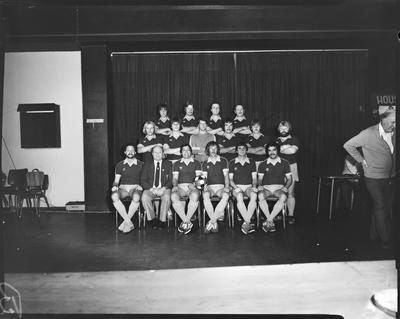 Film negative: Christchurch Working Men's Club, soccer team, winners of 1979 tournament