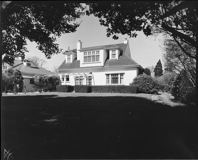 Film negative: W E Simes house at Royds Road and Straven Road