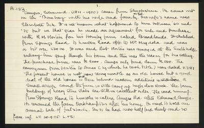 Macdonald Dictionary Record: Edmund Amyes; 1952-1964;