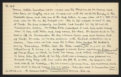 Macdonald Dictionary Record: Arthur Llewellyn Barker; 1952-1964;