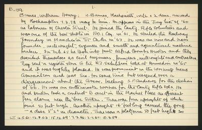 Macdonald Dictionary Record: William Henry Barnes