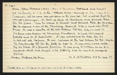 Macdonald Dictionary Record: John Porteous Barr