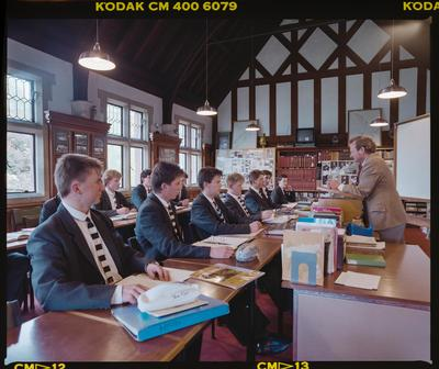 Negative: Christ's College Classroom