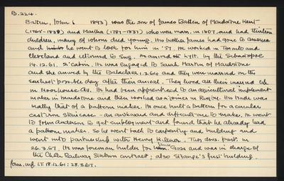 Macdonald Dictionary Record: John Batten