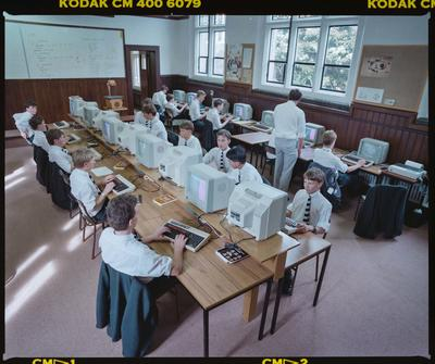 Negative: Christ's College Computer Room