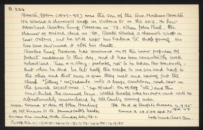 Macdonald Dictionary Record: John Baxter