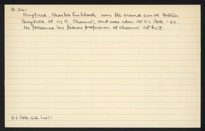 Macdonald Dictionary Record: Charles Lubbock Bayfield