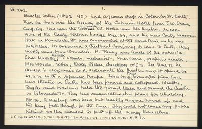 Macdonald Dictionary Record: John Baylee