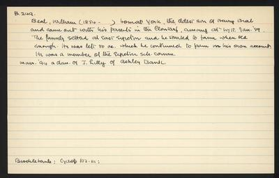 Macdonald Dictionary Record: William Beal