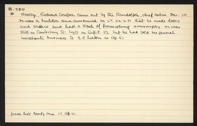 Macdonald Dictionary Record: Richard Cowper Bealby