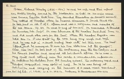 Macdonald Dictionary Record: Richard Stanley Bean