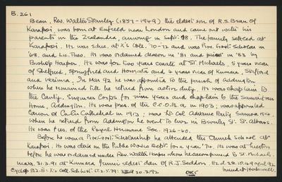 Macdonald Dictionary Record: Walter Stanley Bean