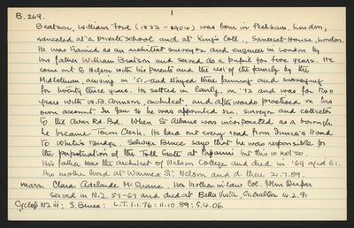 Macdonald Dictionary Record: William Ford Beatson