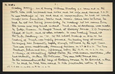 Macdonald Dictionary Record: Harry Beechey
