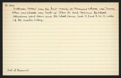 Macdonald Dictionary Record: Robert Bellman