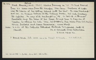 Macdonald Dictionary Record: Daniel Patrick Brick; 1952-1964;