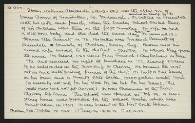 Macdonald Dictionary Record: William Alexander Brown; 1952-1964;