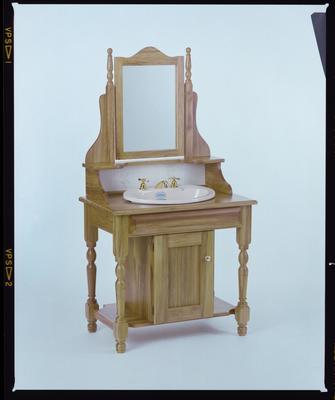 Negative: Wooden Bathroom Vanity