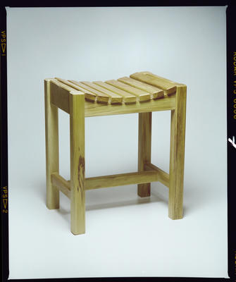 Negative: Wooden Stool