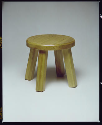 Negative: Wooden Stool
