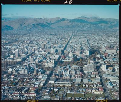 Negative: Christchurch City Aerial View