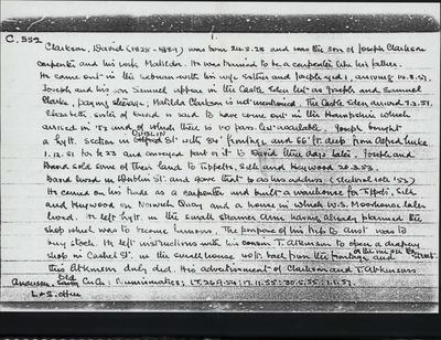 Macdonald Dictionary Record: David Clarkson