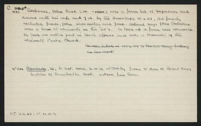 Macdonald Dictionary Record: John (Senior) Cochrane