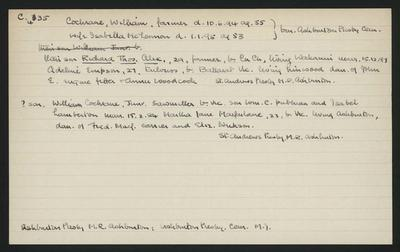 Macdonald Dictionary Record: William Cochrane