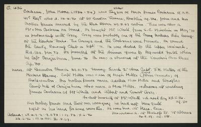 Macdonald Dictionary Record: John Moore Cochran