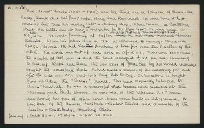 Macdonald Dictionary Record: Ernest Frank Coe