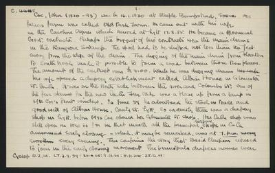 Macdonald Dictionary Record: John Coe