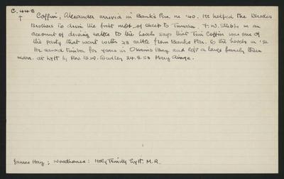 Macdonald Dictionary Record: Alexander Coffin