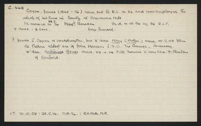 Macdonald Dictionary Record: James Cogan