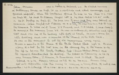 Macdonald Dictionary Record: Herman Cohn