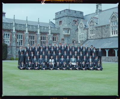 Negative: Christ's College Flower's House 1986