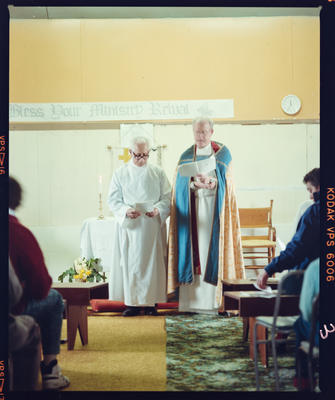 Negative: Chatham Institution Reverend Rewai Preece and Unnamed Man