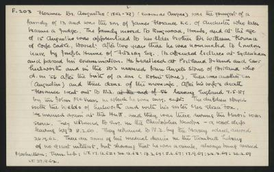 Macdonald Dictionary Record: Augustus Florance; 1952-1964;