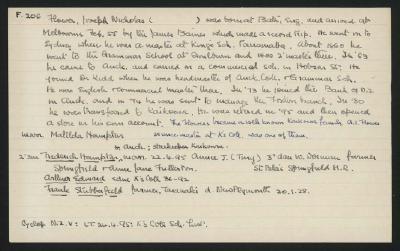 Macdonald Dictionary Record: Joseph Nicholas Flower