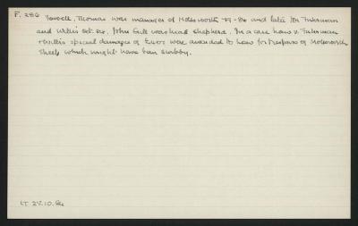 Macdonald Dictionary Record: Thomas Fowell