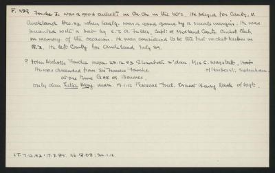 Macdonald Dictionary Record: J Fowke