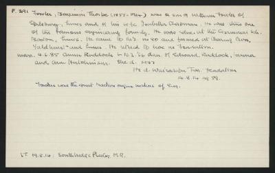Macdonald Dictionary Record: Benjamin Thorpe Fowler