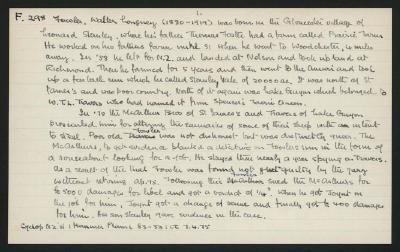 Macdonald Dictionary Record: Walter Longney Fowler