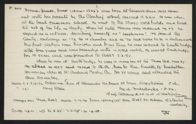 Macdonald Dictionary Record: James (Junior) Frame