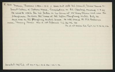 Macdonald Dictionary Record: Thomas Frame