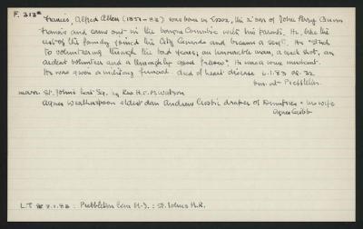 Macdonald Dictionary Record: Alfred Allen Francis