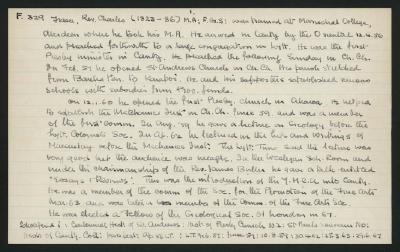Macdonald Dictionary Record: Charles Fraser
