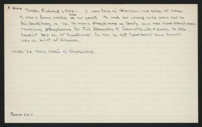 Macdonald Dictionary Record: Richard Fraser