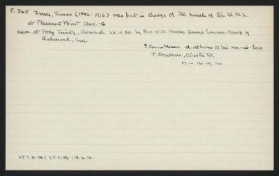 Macdonald Dictionary Record: Simon Fraser