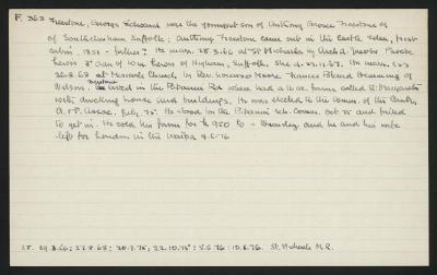 Macdonald Dictionary Record: George Edward Freestone